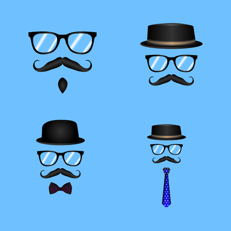Set of different hipster elements, Vector illustration