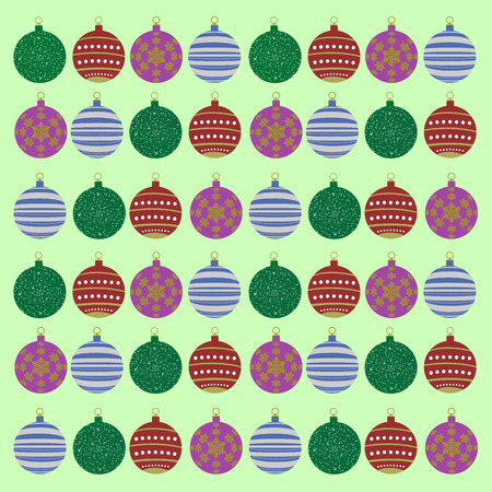wrap: Colored wrap paper for with christmas balls, Vector illustration