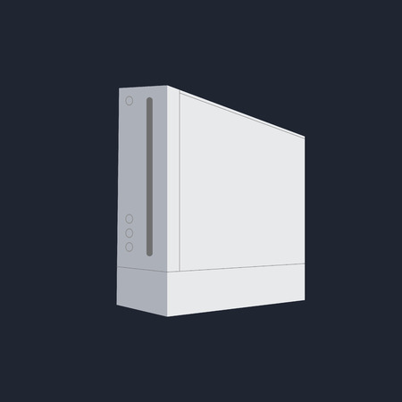 videogame: Isolated videogame console on a blue background, Vector illustration Illustration
