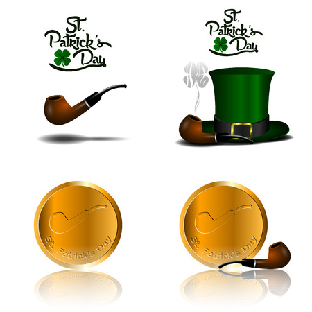 Set of traditional objects, Patricks day vector illustration