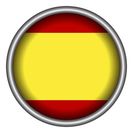 spanish flag: Isolated Spanish flag on a badge, Vector illustration Illustration