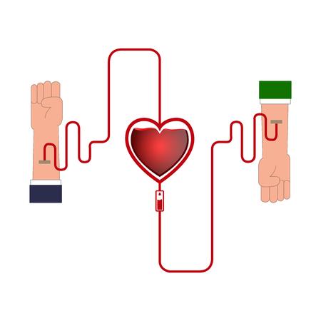 Colored blood donation graphic design, Vector illustration