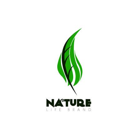 Isolé logo nature avec du texte, Vector illustration