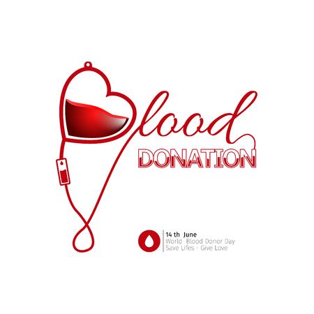 transfuse: Colored blood donation graphic design, Vector illustration
