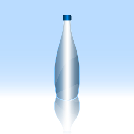 Isolated bottle of water on a blue background, Vector illustration