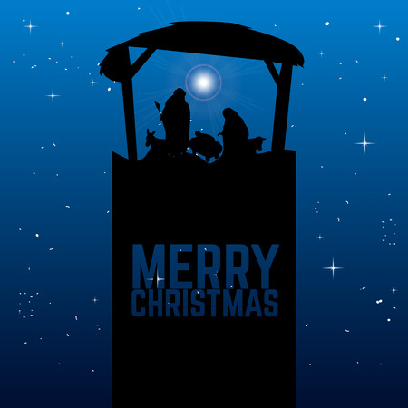 Colored manger for christmas celebrations, Vector ilustration