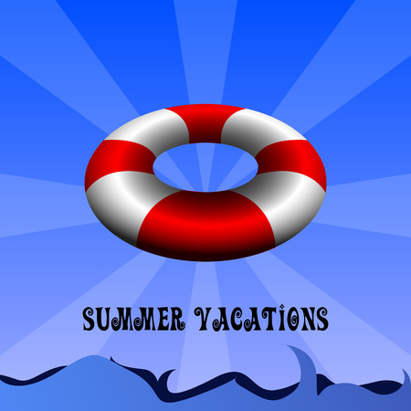 Colored summer vacation graphic design, Vector illustration