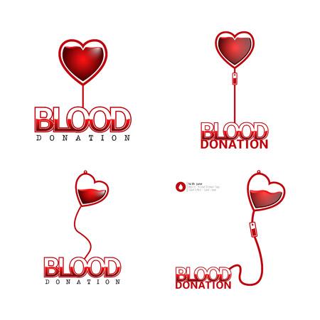 Colored blood donation graphic designs, Vector illustration Illustration