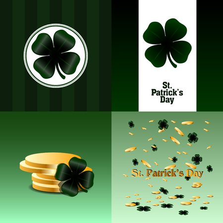 the irish image collection: Set of patricks day graphic designs, Vector illustration Illustration