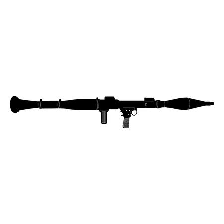 bazooka: Isolated silhouette of a bazooka, Vector illustration