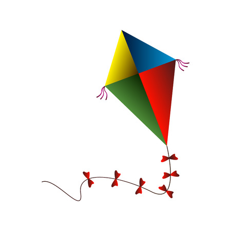 Isolated kite toy on a white background, Vector illustration Illustration