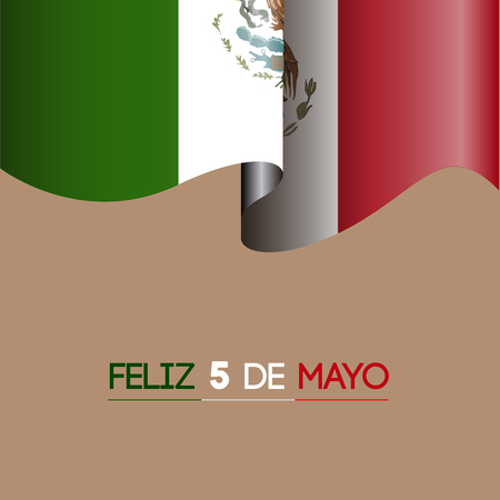 drapeau mexicain: Colored background with the mexican flag, Cinco de mayo vector illustration