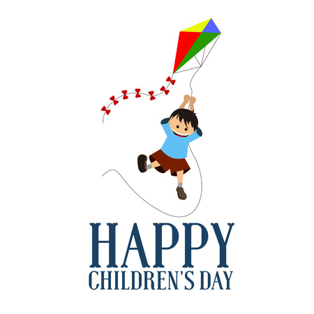 Happy childrens day graphic design, Vector illustration