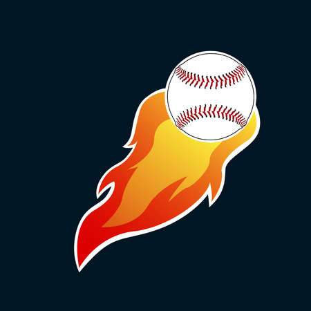 ベクトル図、火球を分離野球エンブレム