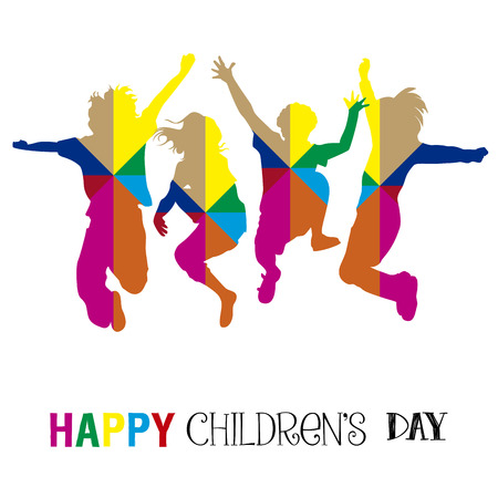 Happy childrens day graphic designs illustration