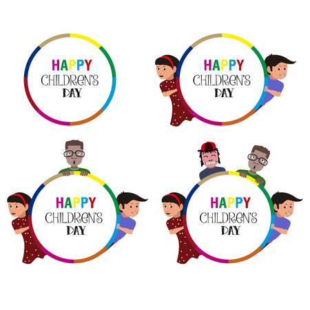 Happy children's day graphic designs, illustration