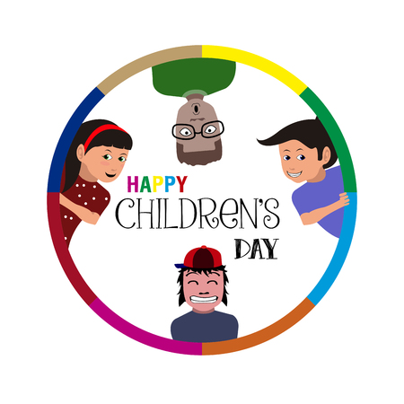 Happy children's day graphic design, illustration