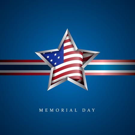 American memorial day graphic design, Vector illustration
