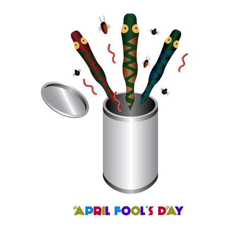 animal idiot: April fools day graphic design, Vector illustration Illustration