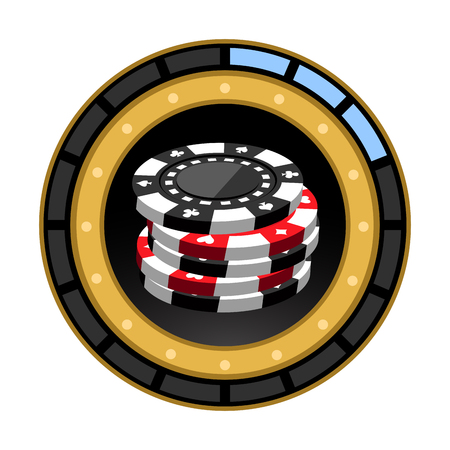 users video: Isolated casino score bar on a white background, Vector illustration