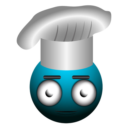 Isolated chef emote on a white background, Vector illustration Illustration