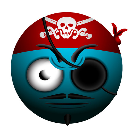 emote: Isolated pirate emote on a white background, Vector illustration