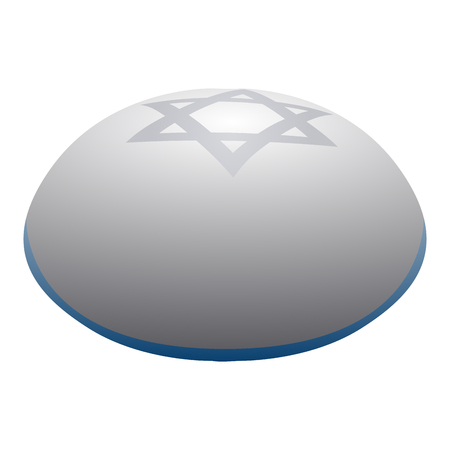 kippah: Isolated jewish kippah on a white background, Vector illustration Illustration