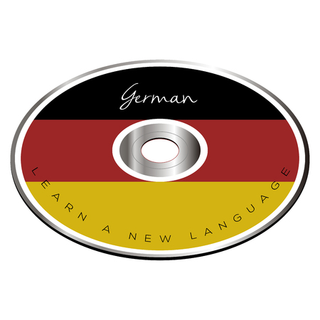 cd recorder: Isolated cd with the german flag, Vector illustration