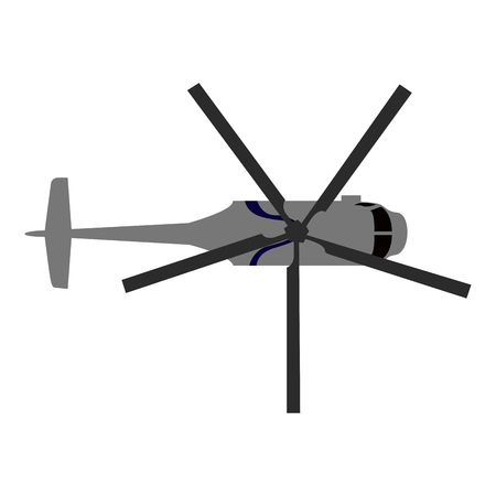 Top view of an helicopter, Vector illustration Çizim