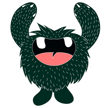 Isolated monster sketch on a white background, Vector illustration Illustration