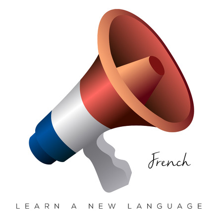 Isolated megaphone with the french flag, Vector illustration