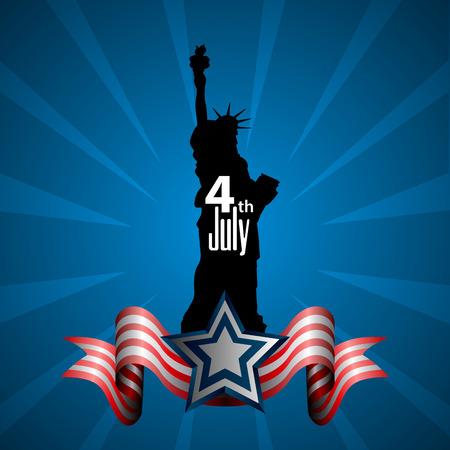 Glücklich Unabhängigkeitstag Grafikdesign, Vektor-Illustration Standard-Bild - 79479883