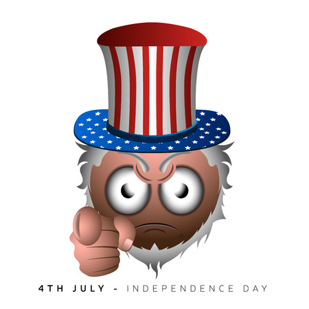 emote: Isolated emote with a traditional hat, Independence day vector illustration