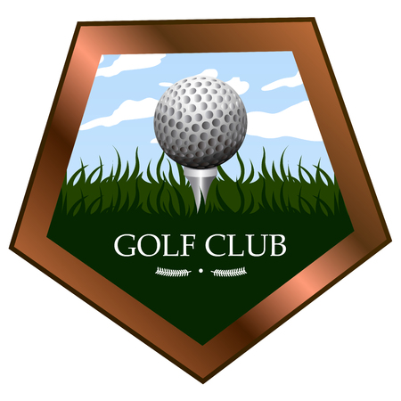 Isolated golf emblem on a white background, Vector illustration Illustration