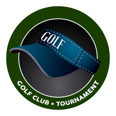 Isolated golf emblem on a white background, Vector illustration Illustration