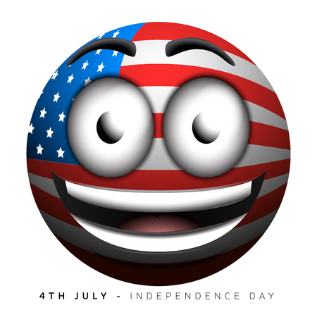 emote: Isolated emote with the american flag, Independence day vector illustration