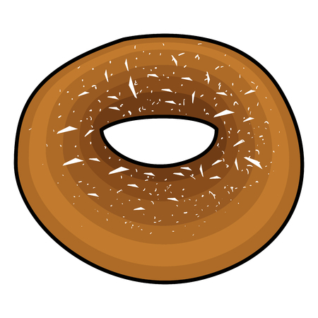 Isolated bagel on a white background, Vector illustration