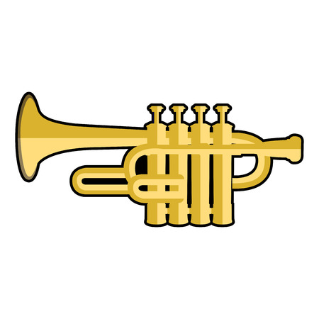 Isolated icon of a trumpet, Vector illustration Illustration