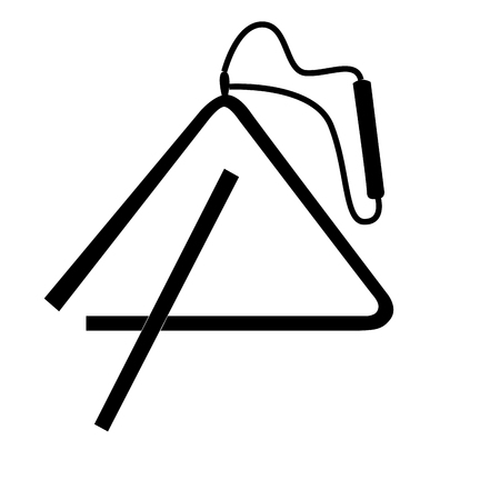Isolated silhouette of a triangle, Vector illustration