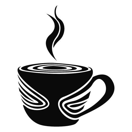 Isolated abstract coffee mug logo, Vector illustration Illustration