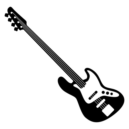 Isolated silhouette of a bass, Vector illustration Illusztráció