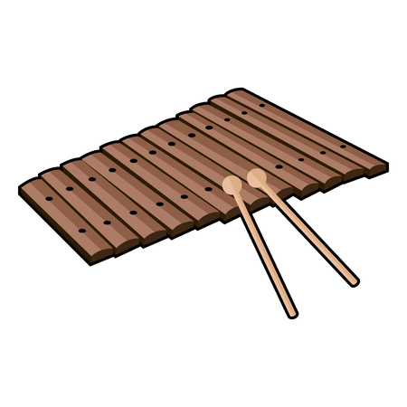 Isolated icon of a xylophone, Vector illustration