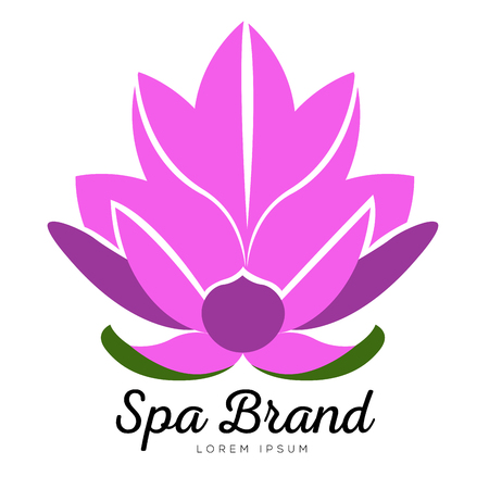 Isolated spa logo on a white background, Vector illustration