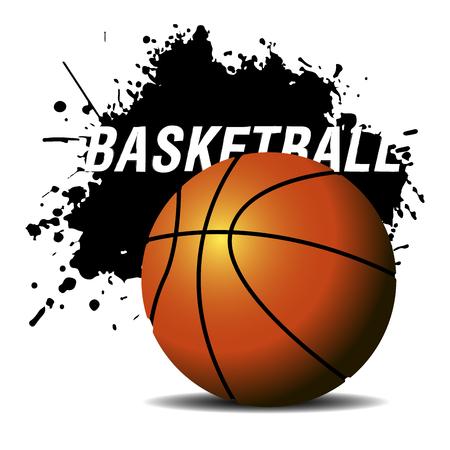 Isolated basketball emblem on a white background, Vector illustration