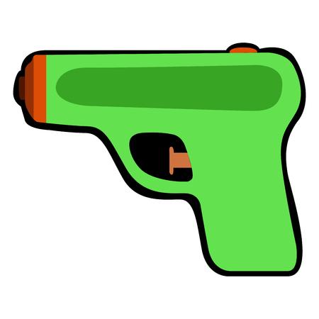 Geïsoleerd waterpistool op een witte achtergrond, Vectorillustratie