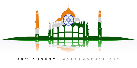 Happy indian independence day graphic design, Vector illustration Ilustrace