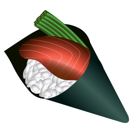 Isolated sushi on a white background, Vector illustration