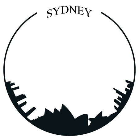 sydney skyline: Isolated Sydney skyline on a white background, Vector illustration