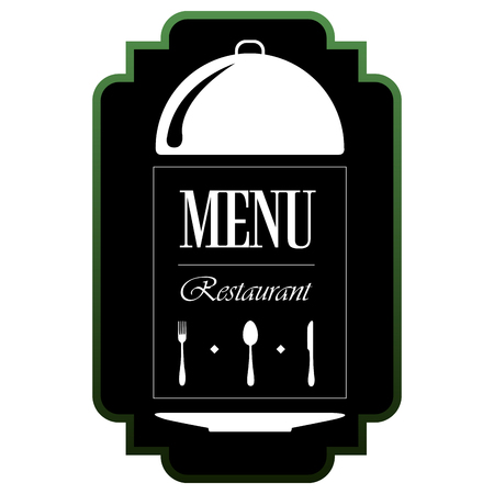 Isolated menu label on a white background, Vector illustration
