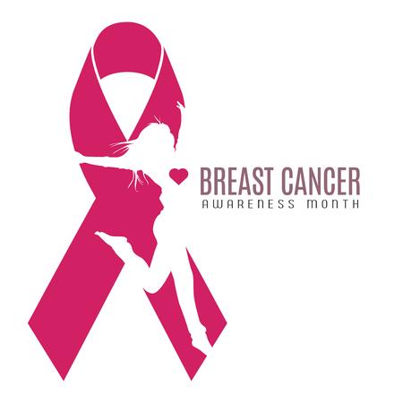 Brustkrebs-Kampagnengrafikdesign, Vektorillustration Standard-Bild - 81940125